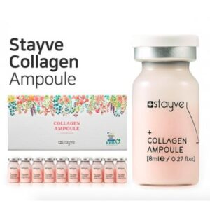 Stayve Collagen Ampoule Collagen Ampoule contains Hydrolyzed Collagen as the main ingredient which is ideal for firming the skin and anti-wrinkle. It has high protein content to make your skin firm and build skin film to moisturize the skin by holding the moisture. It also contains other ingredients such as Tocopheryl Acetate and Vitis Vinifera (Grape) Callus Culture Extract which work as antioxidants that are ideal for aging skin and prevent moisture evaporation by balancing skin lipids.